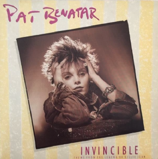 "Pat Benatar - Invincible (Theme From The Legend Of Billie Jean) (7"") (G++/VG)"